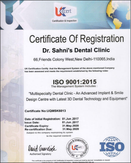 An ISO certified clinic